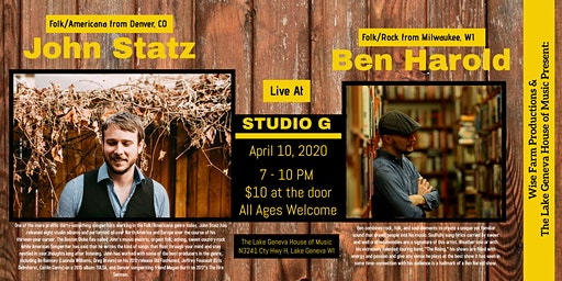John Statz w/ Ben Harold at Studio G
