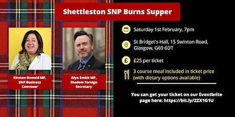 Shettleston SNP Burns Supper tickets