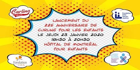 Lancement du 22e anniversaire de Curling pour les Enfants tickets