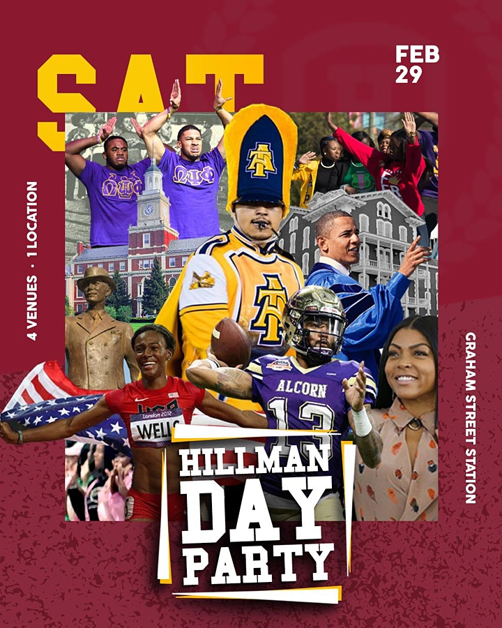 HILLMAN DAY PARTY CHARLOTTE  |Tournament Weekend  @ Graham Street Station image