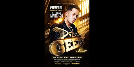 "DE LA GHETTO LIVE IN CONCERT "" FAMOUS"" REGGAETON PARTY 21+ tickets"