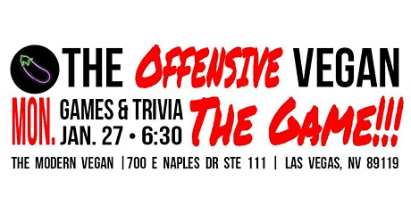 The Offensive Vegan - The Game!!! tickets