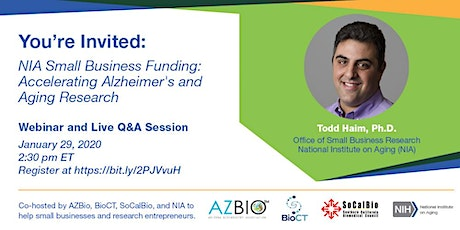 Join Us for the Alzheimer's/Aging Small Business Funding Webinar tickets