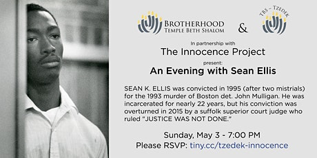 Innocence Project - Sean Ellis tickets