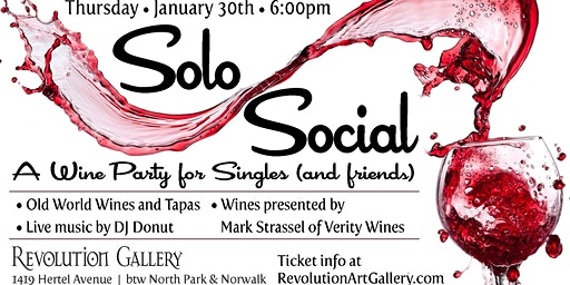 Solo Social - A wine party for singles (and friends)