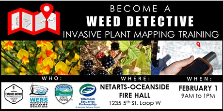 Become a Weed Detective: Invasive Plant Mapping Training tickets