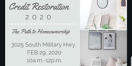 Credit Restoration 2020 – The Path to Homeownership tickets