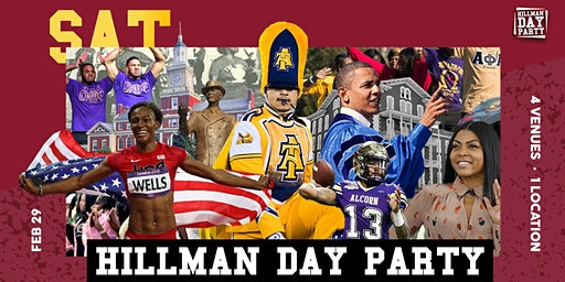 THE 4th ANNUAL HILLMAN DAY PARTY ( CIAA 2020 ) @ Graham Street Station