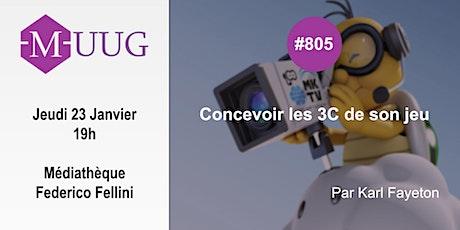 MUUG#805 - Concevoir les 3C de son jeu par Karl Fayeton billets