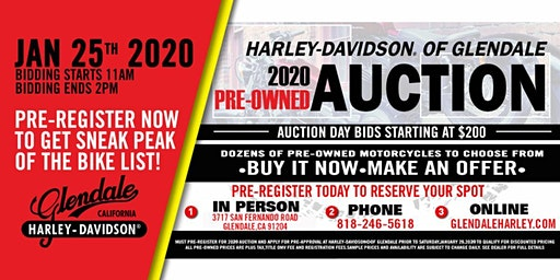 2020 H-D Glendale Annual Pre-Owned Motorcycle Auction