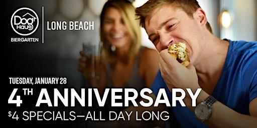 Dog Haus Biergarten Celebrates 4 Years with $4 Hot Dogs & Draft Beers