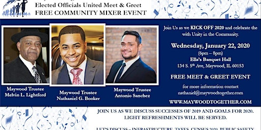 Maywood Together 2020 Elected Officials United Free MIXER EVENT