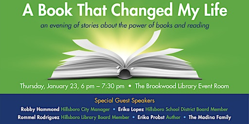 A Book That Changed My Life: An Evening of Stories About the Power of Books