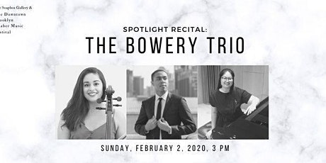 Spotlight Recital: The Bowery Trio tickets
