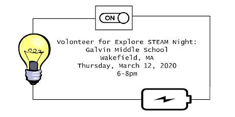 Volunteer at: Explore STEAM Night tickets