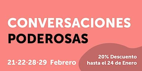 CURSO CONVERSACIONES PODEROSAS - TÉCNICAS DE NEGOCIACIÓN entradas