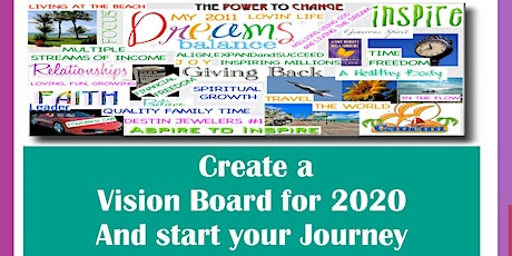Vision Board. Starting your 2020 journey tickets