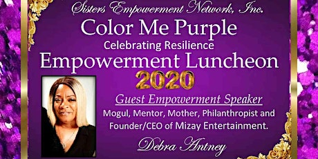 COLOR ME PURPLE  CELEBRATING RESILIENCE  EMPOWERMENT LUNCHEON tickets