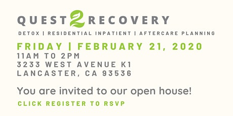 Quest 2 Recovery | Open House tickets