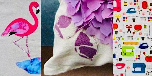Sew an Applique Cushion - Birds & Flowers applique patterns with Jill