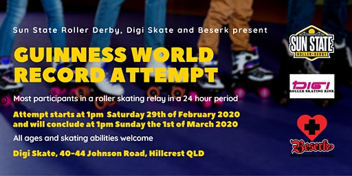 Guinness World Record Attempt - 24hr Skating Relay