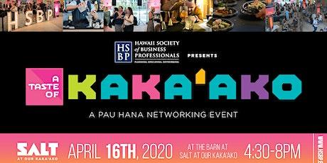 Taste of Kaka'ako: An HSBP Pau Hana Networking Event tickets