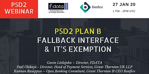 PSD2 Plan B / Fallback Interface & It's Exemption