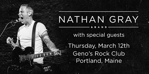Nathan Gray & Band (Boysetsfire) w/Cape Cannons & No Good