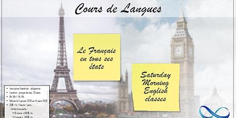 Cours des langues français/anglais billets