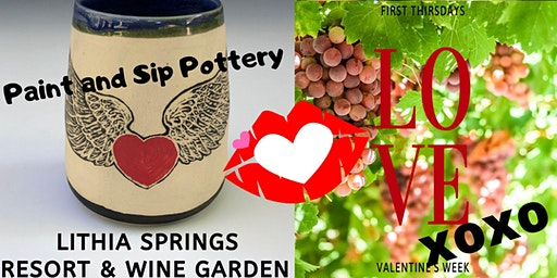 Paint & Sip Pottery at Lithia Springs Resort & Wine Garden!