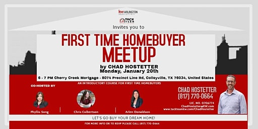 An Introductory Class for the First Time Home Buyer with Chad Hostetter