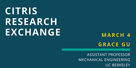 CITRIS Research Exchange - Grace Gu tickets