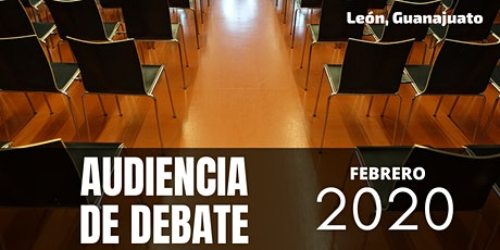 Audiencia  de debate boletos
