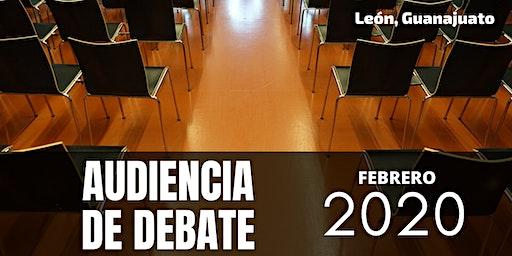Audiencia  de debate