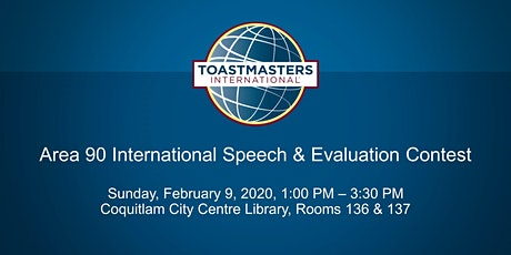 Area 90 Toastmasters International Speech and Evaluation Contest tickets