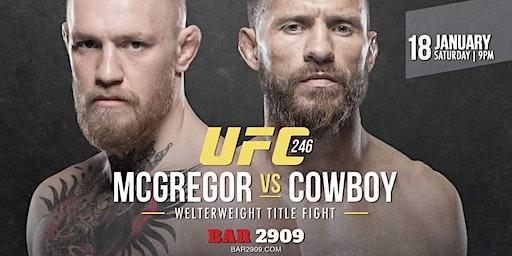 UFC 246: McGregor vs Cowboy Live PPV at BAR 2909
