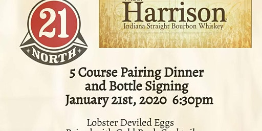 21 North & W. H. Harrison Bourbon Pairing & Bottle Signing