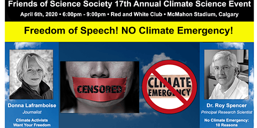 Freedom of Speech!  NO Climate Emergency!