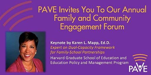 PAVE's Family and Community Engagement Forum