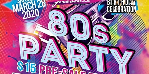 GINO'S ALL 80'S PARTY & DJ SPLICE BIRTHDAY BASH