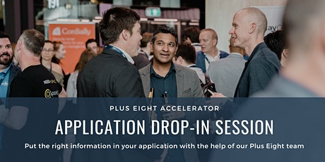 Plus Eight Accelerator - Application Drop-In Session tickets