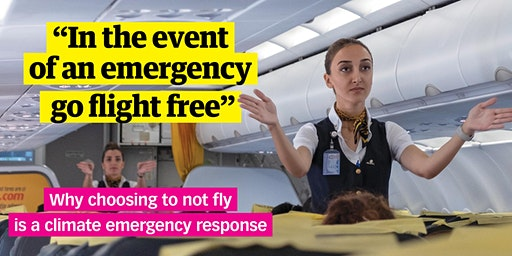 In the event of an emergency, go flight free