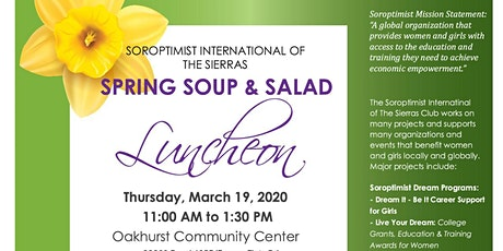 Soroptimist 3.19.2020 - Spring Soup and Salad Fundraiser Luncheon tickets