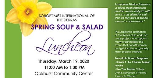 Soroptimist 3.19.2020 - Spring Soup and Salad Fundraiser Luncheon
