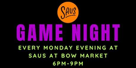 Game Night at Saus at Bow Market tickets
