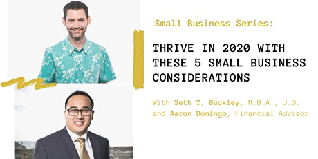 Thrive in 2020 with these 5 Small Business Considerations tickets