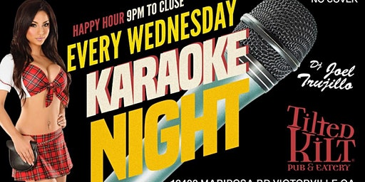 Karaoke Night Wednesdays! Free Entry & Happy Hour at 9pm