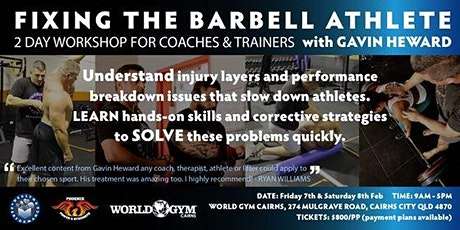 Fixing The Barbell Athlete Workshop tickets