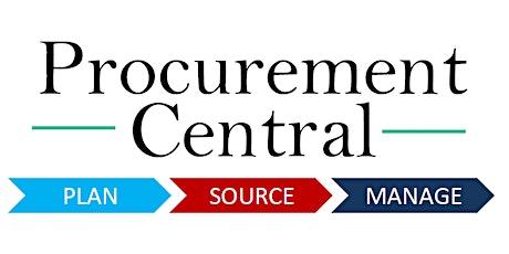 Supplier Briefing: Introducing Procurement Central Enhancements tickets
