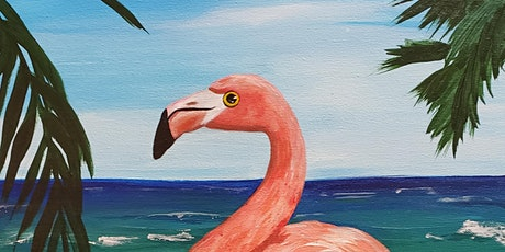 Mimosa Sunday Brunch & Flamingos Paint Party at Brush & Cork tickets